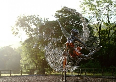 Stainless Steel Fairies Sculptures Clutching Dandelions by Robin Wight - UPVISUALLY | Architecture | Scoop.it