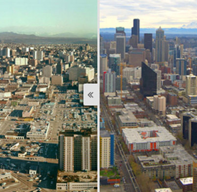 Panoramic photos from top of Space Needle show Seattle's growth since 1960s | History in Pictures | Scoop.it