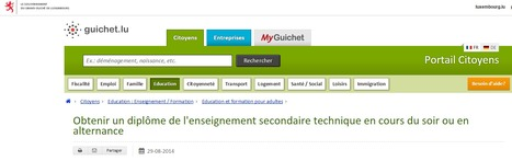 Obtenir un diplôme de l'enseignement secondaire technique en cours du soir ou en alternance | DigitalLuxembourg | Luxembourg | Luxembourg (Europe) | Scoop.it