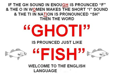 "Do you know what a "" Ghoti"" is? 