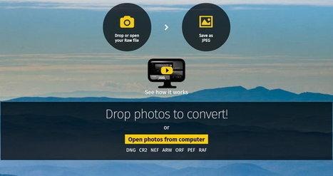 Convertir ficheros de imágenes del tipo RAW a formato JPG, a través del navegador y gratis | GeeksRoom | Geeky Tech-Curating | Scoop.it