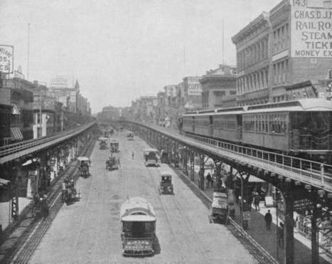 USA: New York City's Elevated Railroads - a spectacular world of steam trains along the avenues | Industrial Heritage | Scoop.it