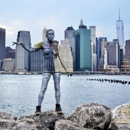 Urban Camo: Body Paint Blends Humans into City Backdrops | Urbanist | The brain and illusions | Scoop.it