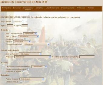 Site du jour (82) : Inculpés de l'insurrection de Juin 1848 | Rhit Genealogie | Scoop.it