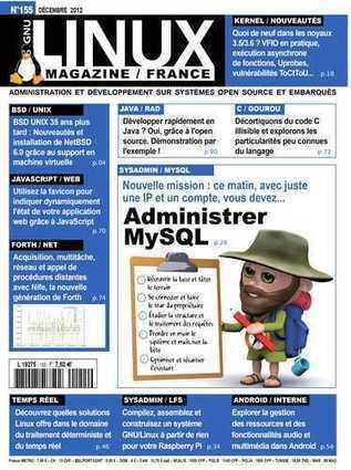 GNU/Linux Magazine 155: Administrer MySQL | Javascript, html5 | Scoop.it