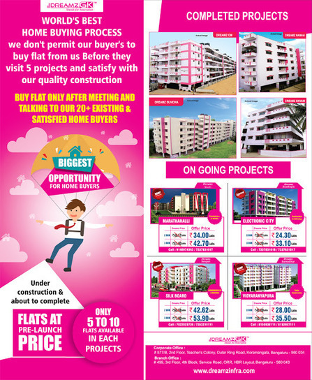Source of Dreamz Infra Review, Discussions and Projects: Dreamz Infra offers flats at lowest prices on under construction flats with a proven background CheckDreamz Infra offers flats at lowest pri... | Any Complaints, reviews, Fraud about dreamz infra | Scoop.it