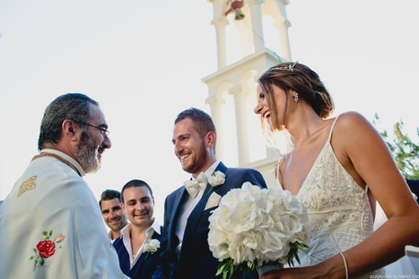 Sophia & Michael's Breathtaking Island Wedding   Greek island lifestyle   Scoop.it