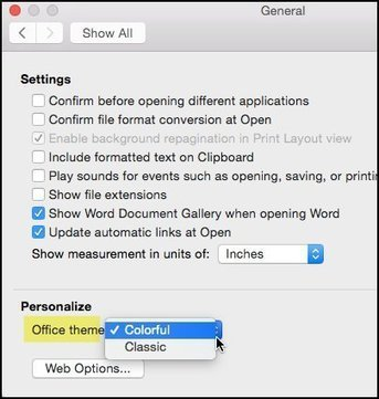 How to Customize Office 2016 for Mac Color Theme   Tech Tips   Scoop.it