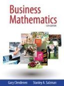 Business Mathematics, 13th Global Edition - PDF Free Download - Fox eBook | IT Books Free Share | Scoop.it