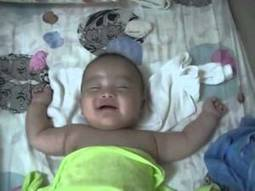 Cute Baby laughing while is asleep  on the Cute Channel | Cute Kids | Scoop.it