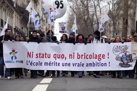 Manifestation à Paris pour une «vraie refondation de l'école» | L'enseignement dans tous ses états. | Scoop.it