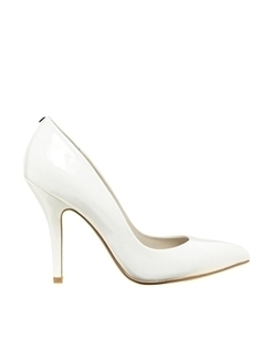 Faith Callaway White Patent Heeled Court Shoes at asos.com | fashion | Scoop.it