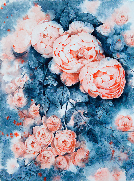 #Splattered #Watercolour #Paintings Capture the Beautiful Vibrancy of Delicate of #Flowers | Luby Art | Scoop.it