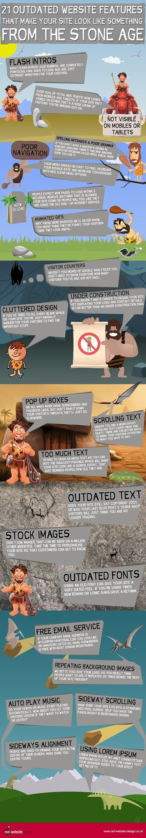 21 Outdated Website Features That Make Your Site Look Like Something from the Stone Age | Web Design | Scoop.it