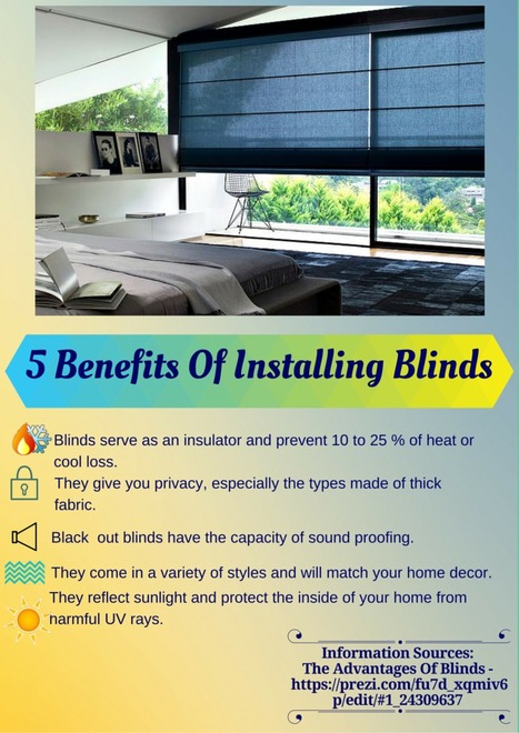5 Benefits Of Installing Blinds | Visual.ly | DIY Projects, Home Improvement Tips, Energy Efficiency Pets | Scoop.it