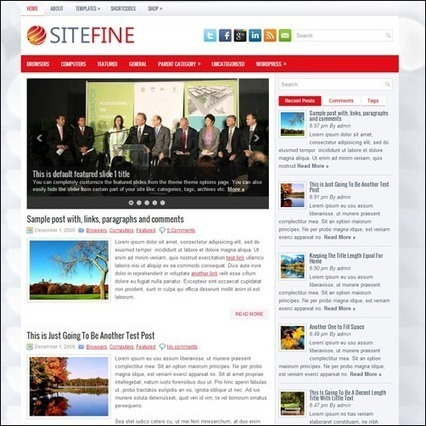 20 New Free WordPress Themes from June 2013 | Template & Webdesign | Scoop.it
