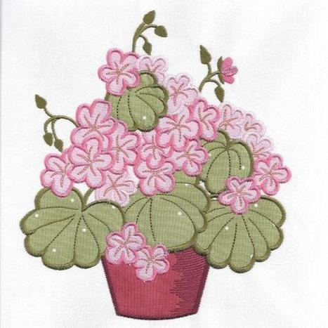 Geraniums - MM Embroidery Designs | OregonPatchWorks | embroidery | Scoop.it