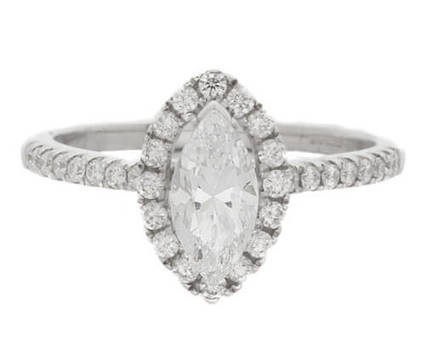 VR1051 Marquise Halo Diamond Ring | Bespoke Diamonds | Engagement Rings Dublin | Scoop.it