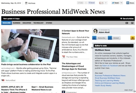 Sept 5 - Business Professional MidWeek News is out | Business Updates | Scoop.it