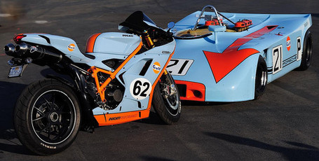 PhotosOfMotos | Chris Campbell | Gulf Ducati 1098 and Porsche 908 | Flickr Photostream | Ductalk | Scoop.it