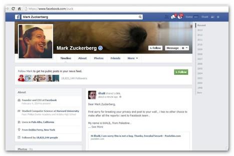 Pour se faire entendre par Facebook, un hacker pirate le mur de Zuckerberg   KILUVU   Scoop.it