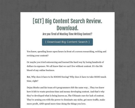 [GET] Big Content Search Review. Download. - Tackk | seo | Scoop.it
