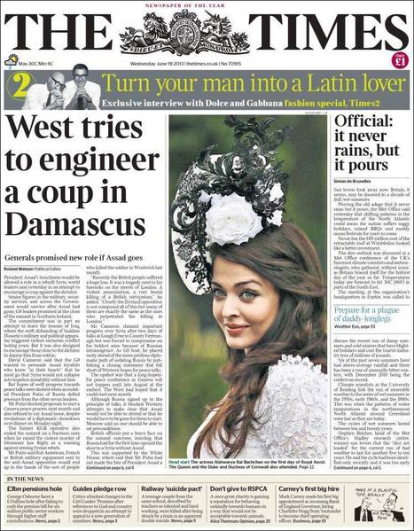 Today's English Newspapers Front-Pages - Wednesday 19.06.13   AC Affairs   Scoop.it
