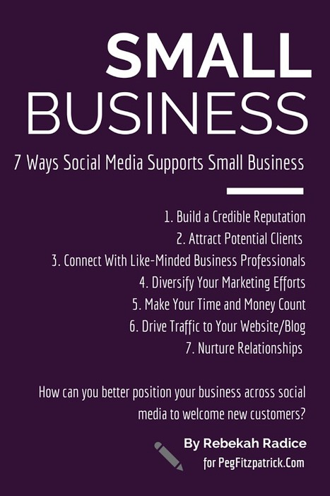 7 Ways Social Media Supports Small Business | microbusiness | Scoop.it