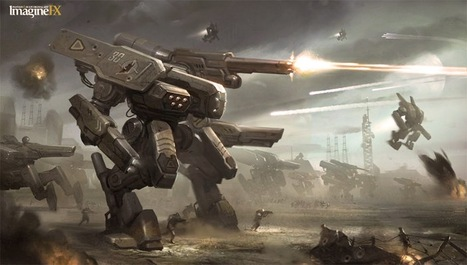 mech+mecha+giant+robot+concept+art+design+gundam+villain+decepticon+hunter+drone+transformers+2+3+4+movie+sci+fi+wallpaper++Mech+Army+by+Twitchfinger.jpg (1600×909) | Awesome Things | Scoop.it