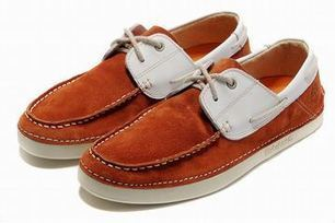 Timberland Classic Two Eye Mens Boat Shoe Orangered White | popular list | Scoop.it
