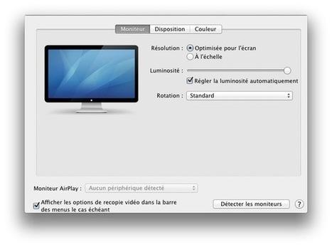 Astuce : comment détecter un moniteur / vidéo-projecteur avec OS X ... - Mac4ever | AV news | Scoop.it