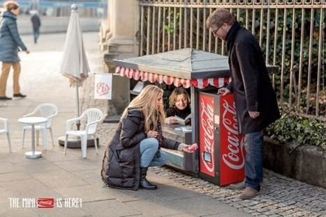 Miniature Coke kiosk introduces miniature Coke cans to Germany | Advertisement | Scoop.it