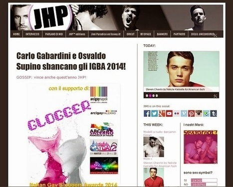 Parlano di noi: GLOGGER! - JHP eXtra! | QUEERWORLD! | Scoop.it