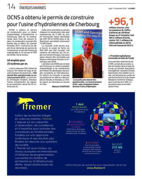 DCNS a obtenu le permis de construire pour l'usine d'hydroliennes de Cherbourg | Industrie, entreprises | Scoop.it