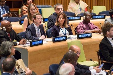 Mark Zuckerberg à l'ONU : Internet est essentiel pour résoudre les problèmes mondiaux | Webmarketing et Réseaux sociaux | Scoop.it