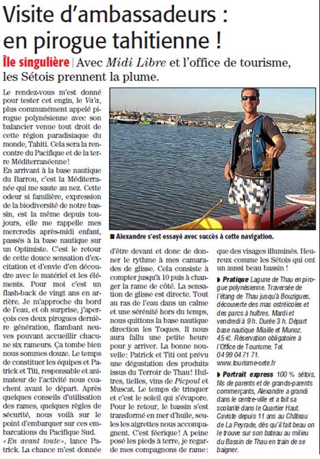 Visite de Sète en pirogue | Sète Tourisme : les ambassadeurs-reporters sur le terrain | Scoop.it