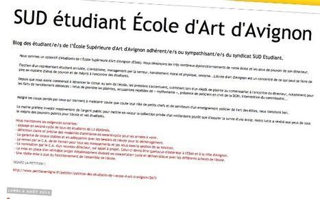 Les Inrocks - La lutte des étudiants de l'Ecole d'art d'Avignon se poursuit devant les tribunaux | L'enseignement dans tous ses états. | Scoop.it