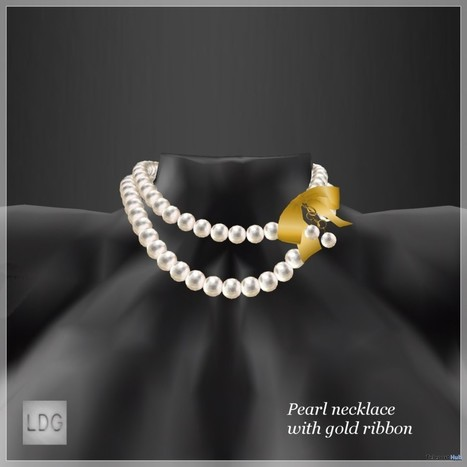 Pearl Necklace With Gold Ribbon CCB August 2016 Group Gift by LDG | Teleport Hub - Second Life Freebies | Second Life Freebies | Scoop.it