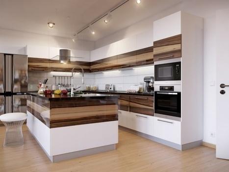 Dvojfarebné kuchyne majú čosi do seba | Domácnosť a bývanie | Scoop.it
