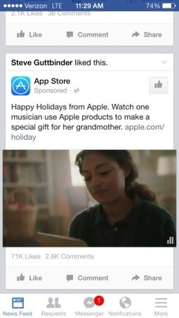 For Apple's holiday ad, Facebook video outperforms YouTube | MarketingHits | Scoop.it