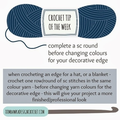 Crochet Tip of the Week: Finished Edges for Hats and Afghans - Oombawka Design Crochet | Crochet | Scoop.it