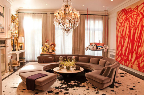 Luxury Living Room with Abstract Wall Painting and Extra Elegant Chandelier | Simple Decorating Ideas For Home | Scoop.it