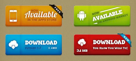 Free PSD UI Kit: Super Buttons | Photoshop Tutorials | Scoop.it
