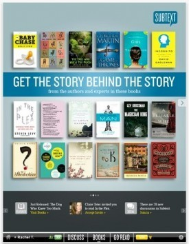 Subtext iPad App Brings Book Chat to the Digital Page | PadGadget | iPad:  mobile Living, Learning, Lurking, Working, Writing, Reading ... | Scoop.it