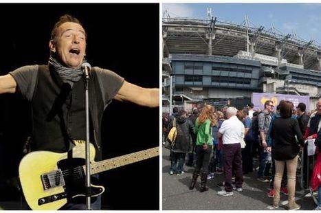 Bruce Springsteen at Croke Park : Fans left stadium after sound problems - Dublin Live | Bruce Springsteen | Scoop.it
