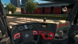 Red Interior for Mercedes Actros MP4 | ETS2 | Scoop.it