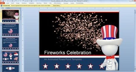 Animated Fireworks PowerPoint Template for Celebration | PowerPoint Presentation | 0titanic0 | Scoop.it