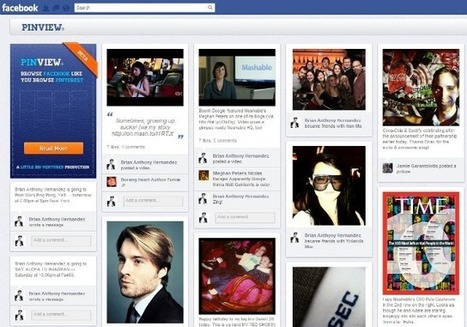 PinView Turns Your Facebook Timeline Into a Pinterest Board | Medical Librarians Of the World (MeLOW) | Scoop.it