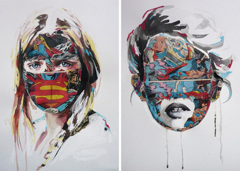 Comic Book Portraits by Sandra Chevrier | the different types of Art | Scoop.it