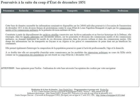 """Une base de données sur """"les poursuivis à la suite du coup d'Etat de décembre 1851"""". - La généalogie plus simple avec GénéaBlog86 !   Histoire Familiale   Scoop.it"""